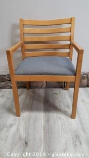 Nice Wide Seat Wooden Covered Bottom Office Chair/Armed Accent Chair