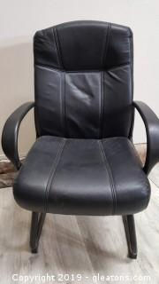 Nice Black Leather High Back Office Chair