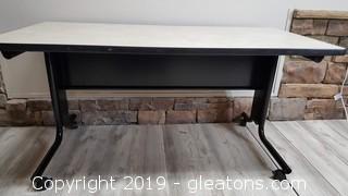 Rolling Metal Desk/Craft Table
