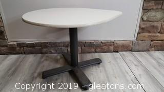 Small Rolling Tear Drop Office Table
