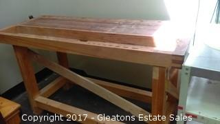 WOODBLOCK WORKING TABLE