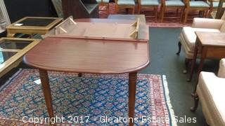 WOOD KITCHEN TABLE WITH LEAF