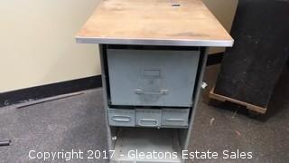 METAL CART WITH FOUR DRAWER