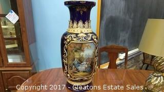 Porcelain Painted Colonial Style Vase