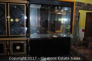 LARGE LIDO BLACK LACQUER CHINA CABINET