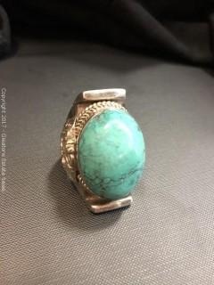 Vintage Navajo Kingsman Turquoise Ring