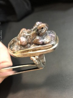 Agate Frog Ring