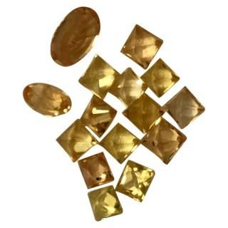 Yellow Sapphire Lot of 15 Assorted