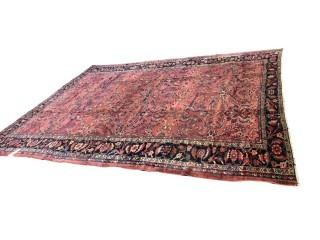Persian Wool Rug, 9x12' 88 Years Old