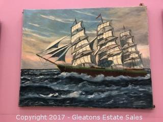 Oil on Canvas, Modern Art, Weset Ship