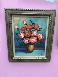 Oil on Canvas, Still Life Red Roses