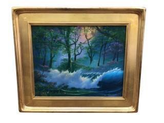 Original Jim Warren Oil Painting, Grammy Winning Artist
