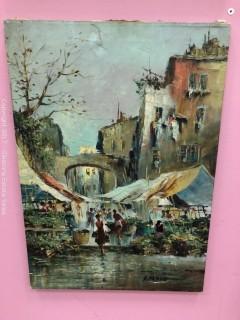 Oil on Canvas, A. Vando