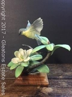 Royal Worcester and Dorothy Doughty,Parula Warbler and Sweet Bay, #5051, 1964