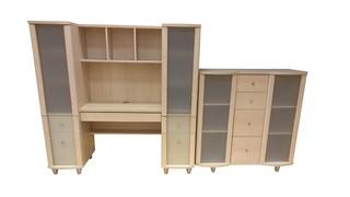 TWO PIECE SIDE BY SIDE ENTERTAINMENT CENTER