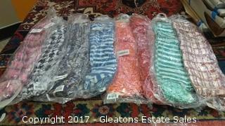 SET OF EIGHT ASSORTED  FASHION SCARFS