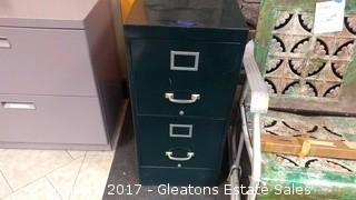 TWO DRAWERS METAL FILE CABINET