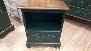 DREXEL NIGHTSTAND WITH FLOWERS DESIGNS (2)