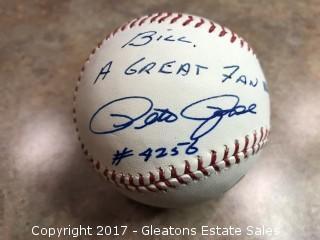 Pete Rose autographed baseball