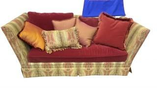 HIGH SIDE COUCH WITH VELVET SEAT (2)