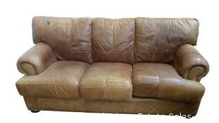 LEATHER COUCH (2)