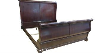 KING CHERRY WOOD SLEIGH BED
