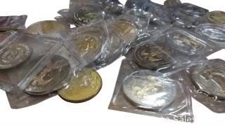 BAG OF ANNIVERSARY COINS