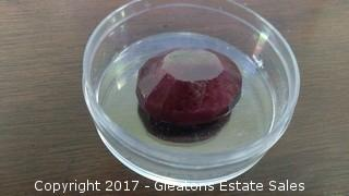 LARGE GRADE A OVAL CUT RUBY (2)