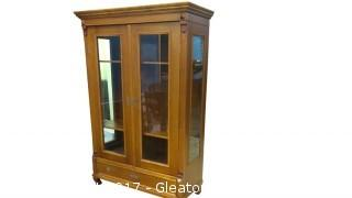 ANTIQUE CURIO CABINET FROM POLAND