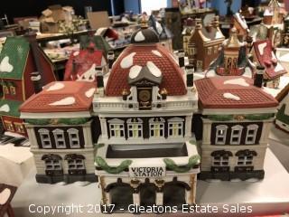 Christmas Village Victoria Station